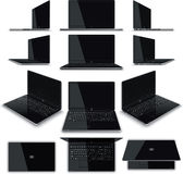 Laptop 12 Views Kit royalty free illustration