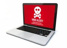 Laptop virus Stock Photos