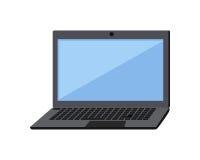 Laptop vlak pictogram Royalty-vrije Stock Afbeeldingen
