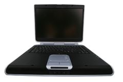 Laptop von einer anderen Perspektive des Stückchen Lizenzfreie Stockfotografie