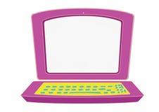 Laptop voor jonge geitjes Royalty-vrije Stock Foto's