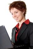 Laptop vrouw royalty-vrije stock foto's