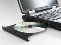 Laptop w/cd stieß II aus Lizenzfreies Stockfoto
