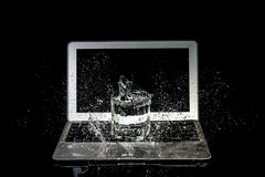 Laptop Water damage Royalty Free Stock Images