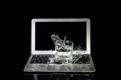 Laptop Water damage Royalty Free Stock Photo