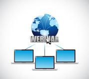Laptop webinar network illustration design Stock Photo