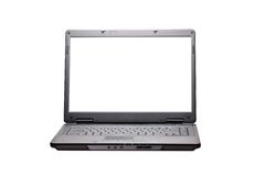 Laptop on the white. Background Royalty Free Stock Photography