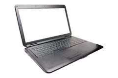 Laptop on the white Royalty Free Stock Photography
