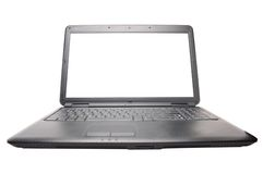 Laptop on the white. Background Stock Photos