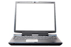 Laptop on the white. Background Stock Photo