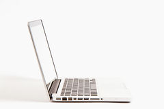 Laptop  on white Royalty Free Stock Images