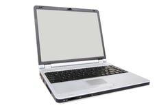 Laptop on white Royalty Free Stock Photo