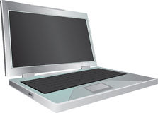 Laptop on white background. Vector illustration Stock Image