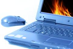 Laptop on white background Royalty Free Stock Image