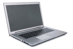 Laptop  on white background Royalty Free Stock Photography