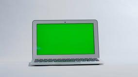 Laptop on white background, green screen Royalty Free Stock Photo