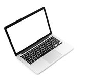 Laptop on white background. Isolated, close-up Royalty Free Stock Images