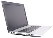Laptop on white Stock Photography