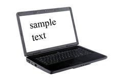 Laptop white screen Stock Photos