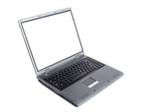 Laptop with white screen Stock Images