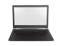 Laptop with white screen  Royalty Free Stock Photos