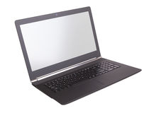 Laptop with white screen  Stock Image