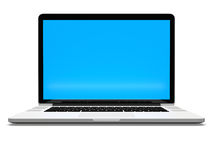 Laptop with white screen Royalty Free Stock Photography