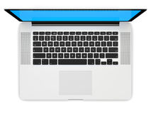 Laptop with white screen Royalty Free Stock Images