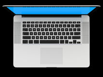 Laptop with white screen Stock Photography
