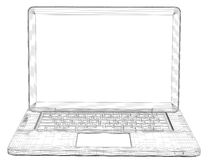 Laptop. Wire frame Stock Photos