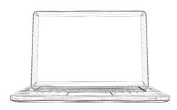 Laptop. Wire frame Royalty Free Stock Photo