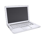Laptop. Wire frame Royalty Free Stock Photos