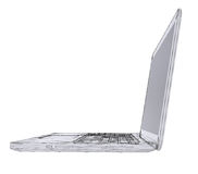 Laptop. Wire frame Stock Images