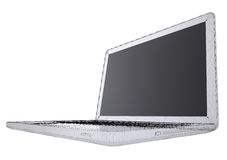 Laptop. Wire frame Royalty Free Stock Images