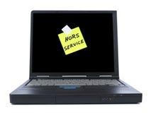 Laptop With Sticky Note Stock Photos