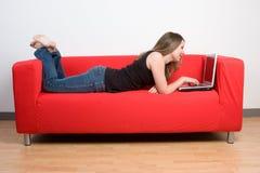 Laptop Woman Stock Photography