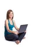 Laptop woman Stock Images