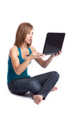 Laptop woman Royalty Free Stock Photography