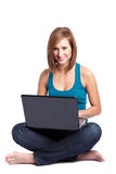 Laptop woman Royalty Free Stock Images