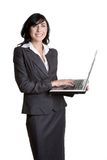 Laptop Woman Stock Photography