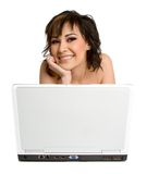 Laptop Woman Stock Image