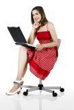 Laptop woman Stock Image