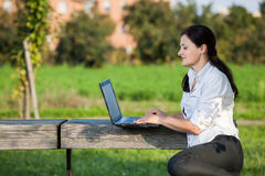 Laptop woman Royalty Free Stock Image