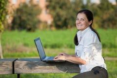 Laptop woman Stock Photo