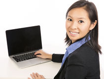 Laptop woman Royalty Free Stock Photo