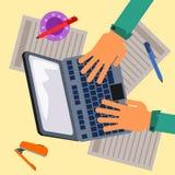 Laptop work Stock Image