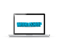 Laptop. workshop illustration design Stock Images