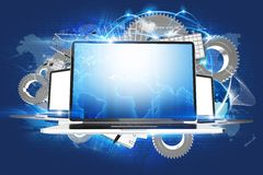Laptop Workstations Royalty Free Stock Images