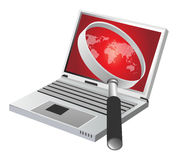 Laptop world Royalty Free Stock Photo