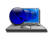 Laptop worlds Stock Image